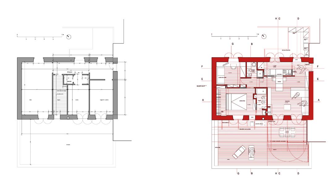 Ristrutturazione casa ac a9studio for Piani casa su due piani degli anni 60