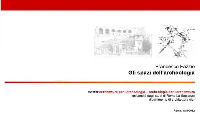 spazi archeologia master 2012 - copertina