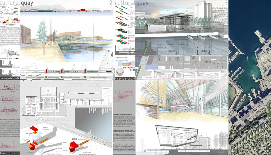 Progetto urbano per la risistemazione del waterfront - Tavole di concorso architettura ...