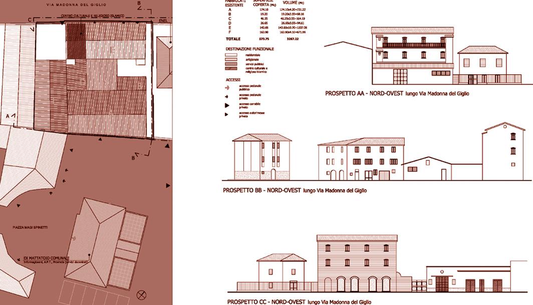 Piano di recupero di un comparto privato nel centro for Piani di fattoria di un livello